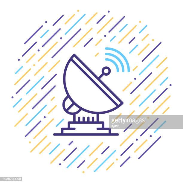 Satellite Dish Line Icon