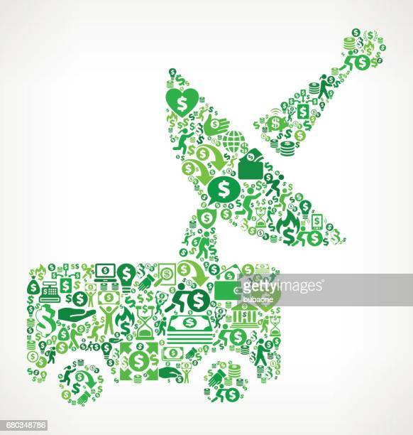 satellite dish machine money and finance green vector icon background - flipping a coin stock illustrations, clip art, cartoons, & icons