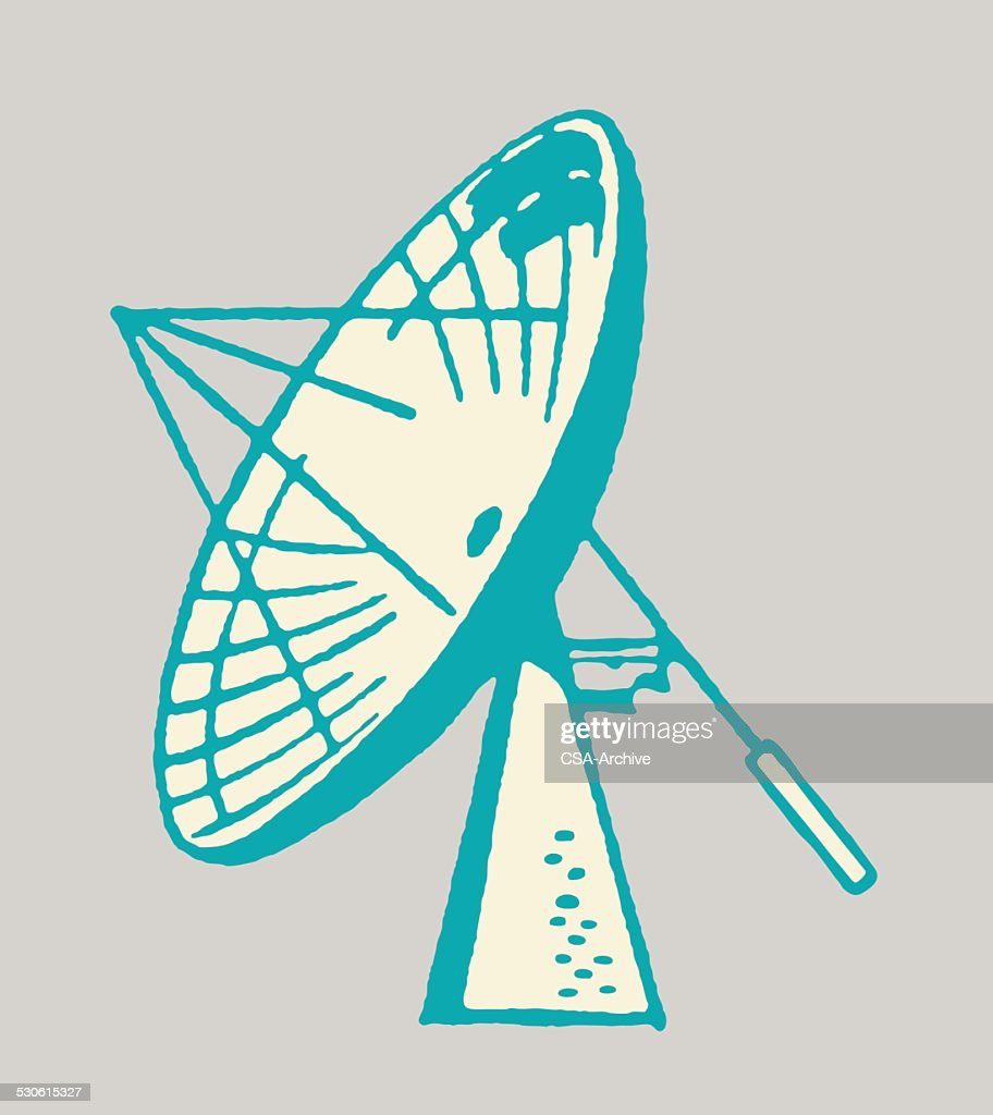 antenne parabolique clipart vectoriel | getty images