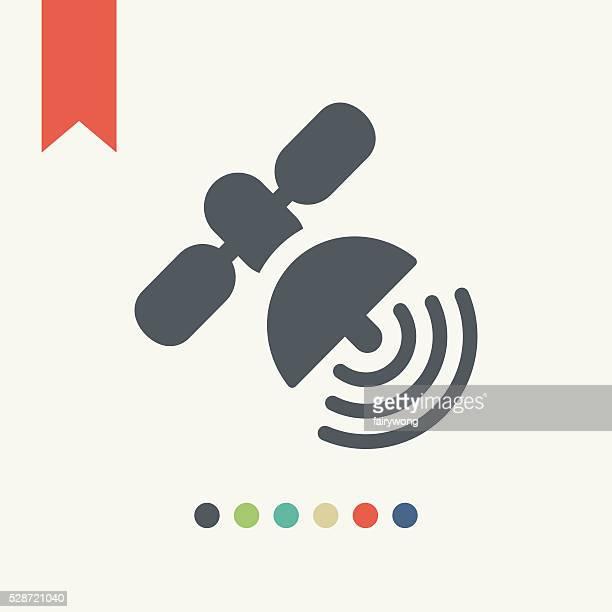 satellite icon - sensor stock illustrations, clip art, cartoons, & icons