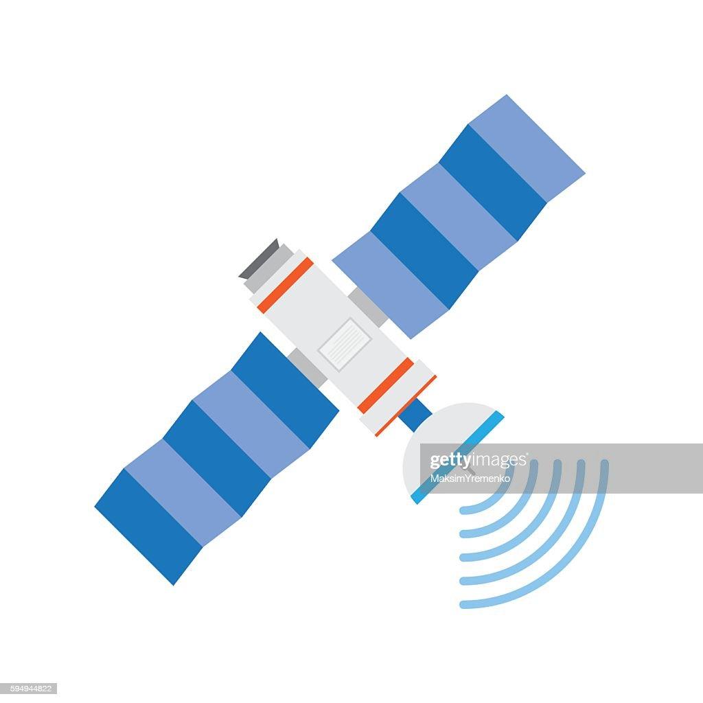 GPS satellite, vector illustration