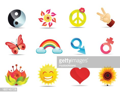 Satin Peace And Love Symbols Vector Art Getty Images