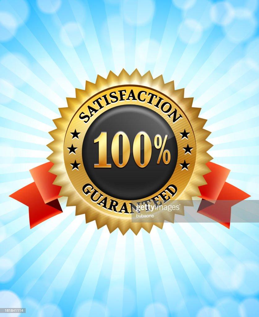 Satisfaction Guarantee Black and Yellow Badge