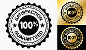 Satisfaction Guaranteed 100% Quality Badge.