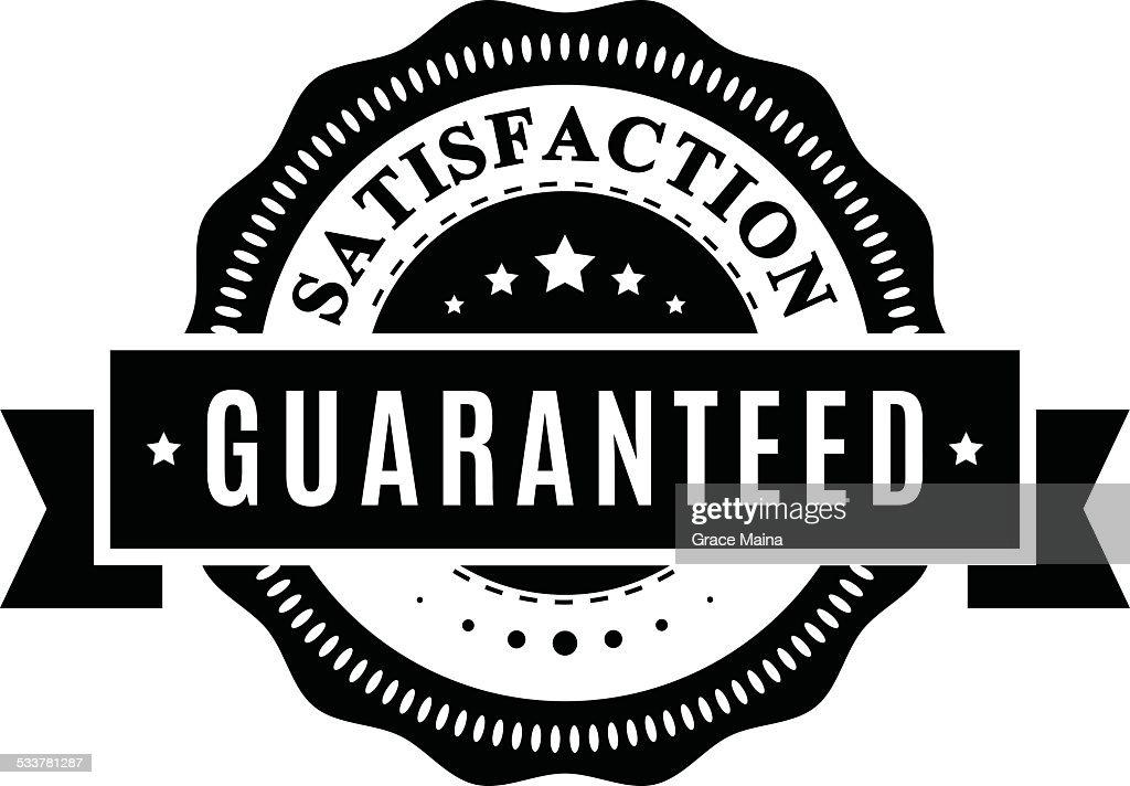 Soddisfazione garantita segno-vettoriale : Illustrazione stock