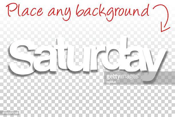 ilustraciones, imágenes clip art, dibujos animados e iconos de stock de sábado sign for design - fuente de papel - fondo en blanco - sábado