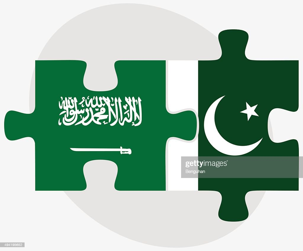 Saudi Arabia and Pakistan Flags