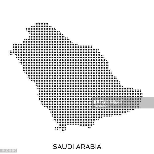 Saudi Arabia dot halftone pattern map