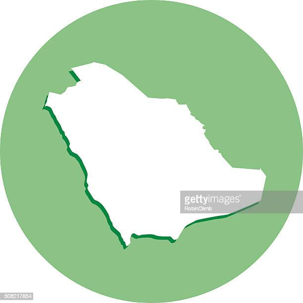 Saudi Arabia Round Map icon