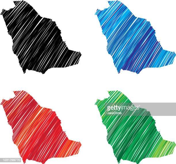 Saudi Arabia Scribble