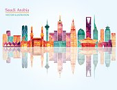 Saudi Arabia  Vector illustration
