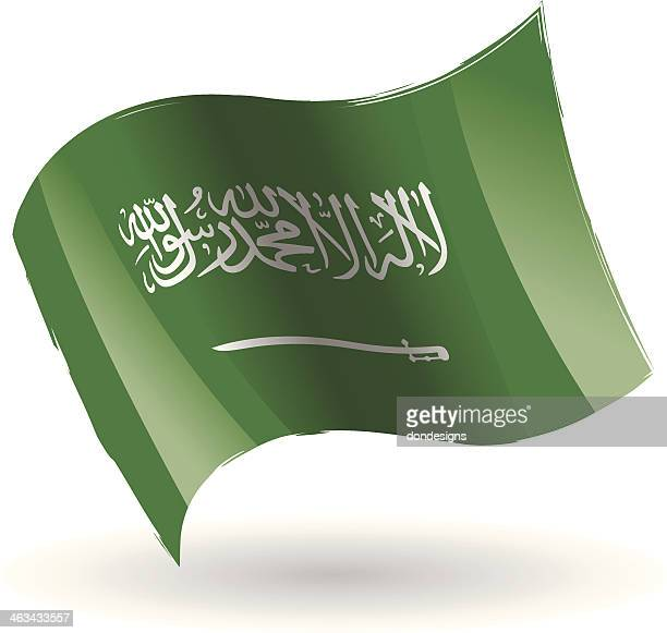 saudi ariba flag waving - arabic script stock illustrations, clip art, cartoons, & icons