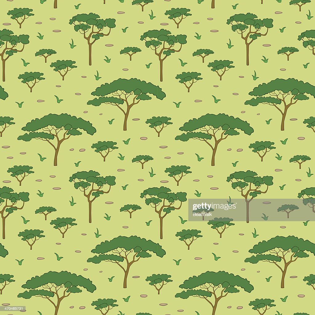 Savanna tree pattern