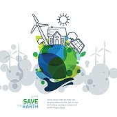 Save earth day. Environmental, ecology, nature protection and pollution concept.