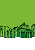 Save eth earth and nature landscape concept paper art style design.
