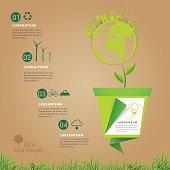 Save friendly eco power concept infogrpaihc.