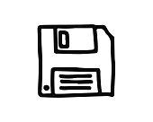 save hand drawn icon