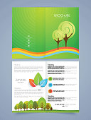 Save nature brochure, flyer or template.