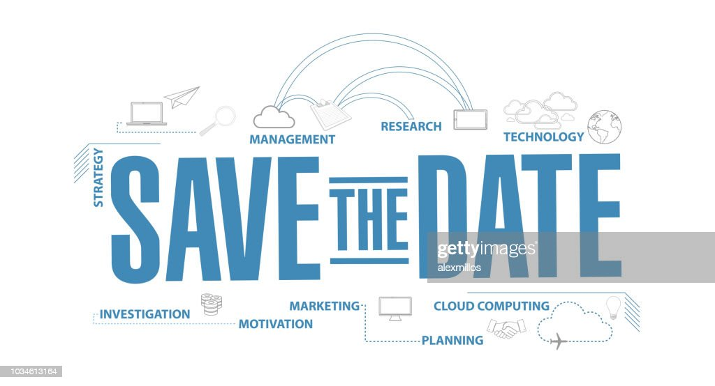 Save the date diagram plan concept