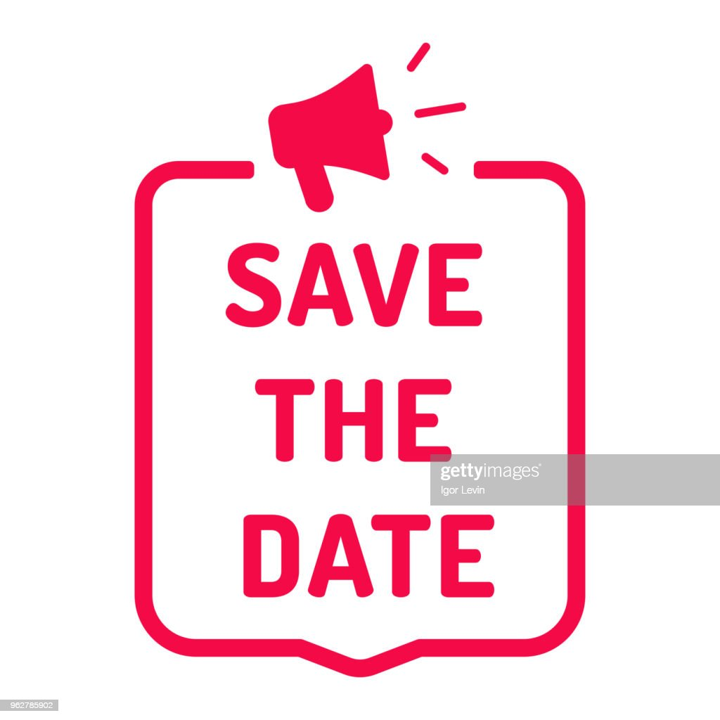 Save the date. Flat vector illustration on white background.