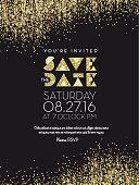 Save the Date Golden Glitter invitation design background