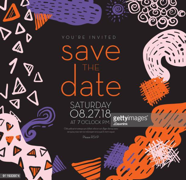 design a save the date cardのイラスト素材と絵 getty images
