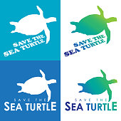 Save the sea turtles icon