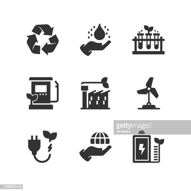 bildbanksillustrationer, clip art samt tecknat material och ikoner med rädda världen, grön energi, förnybar energi, rädda planeten, återvinning ikoner - förnybar energi