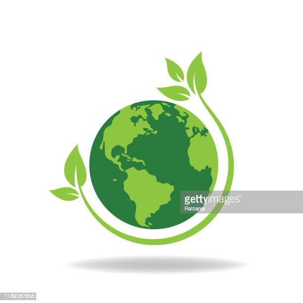 save the world - planet earth stock illustrations