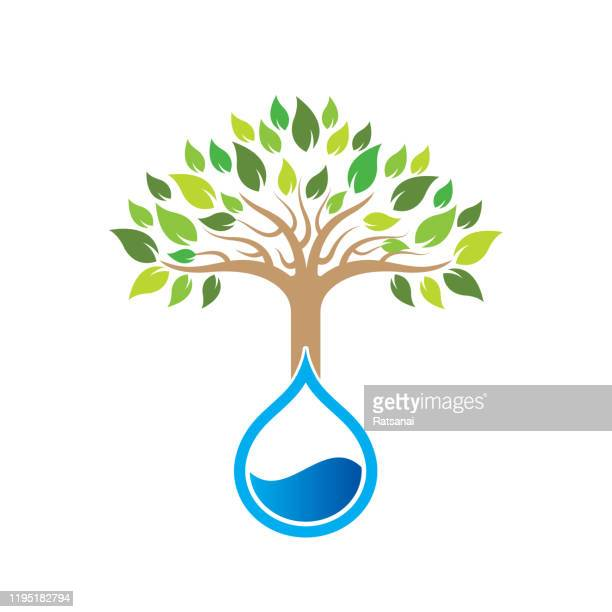 save water concept - water conservation stock illustrations