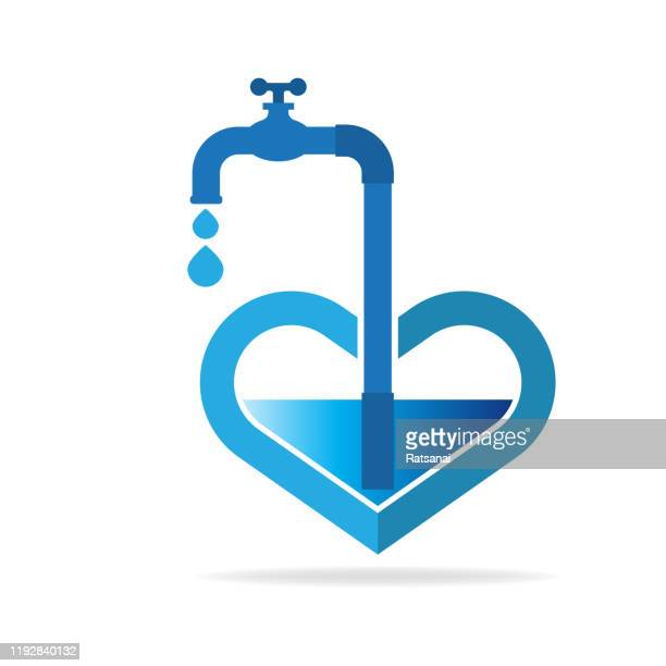 save water save life - water conservation stock illustrations