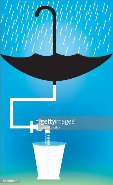 save water , - rain stock illustrations