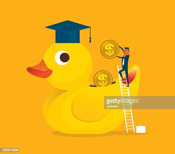 saving money - duck stock illustrations, clip art, cartoons, & icons
