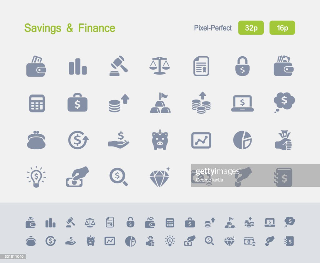 Savings & Finance - Granite Icons