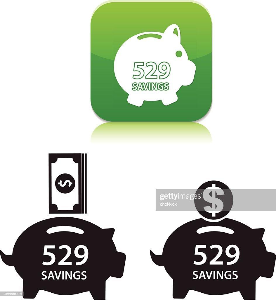 savings icons : stock illustration