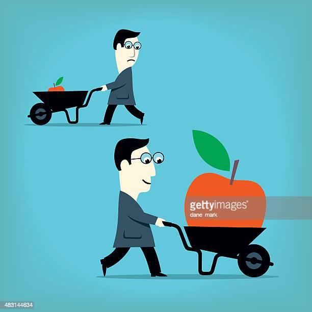 savings - wheelbarrow stock illustrations, clip art, cartoons, & icons