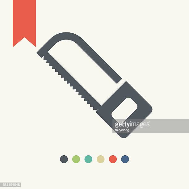 saw icon - serrated stock illustrations, clip art, cartoons, & icons