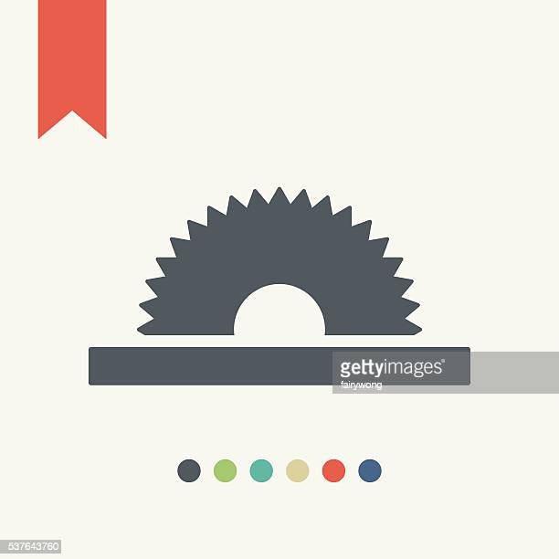 saw icon - carpentry stock illustrations