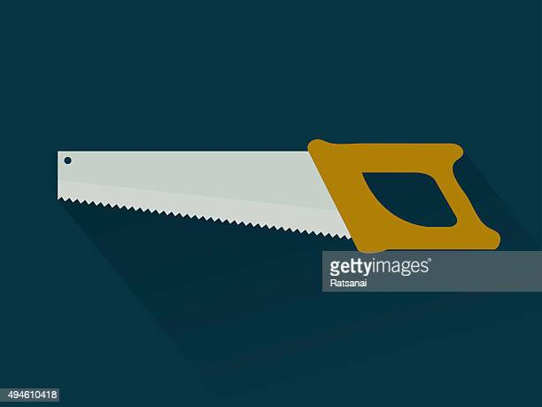 saw icon vector - serrated stock illustrations, clip art, cartoons, & icons