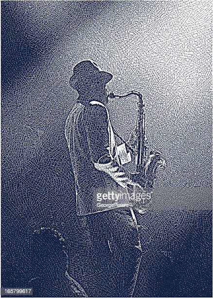 saxophonist - jazz stock illustrations, clip art, cartoons, & icons