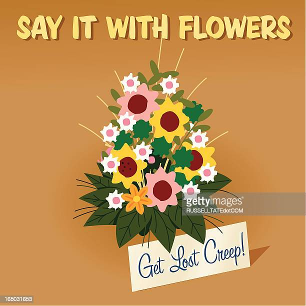 say it with flowers - swing dancing stock illustrations