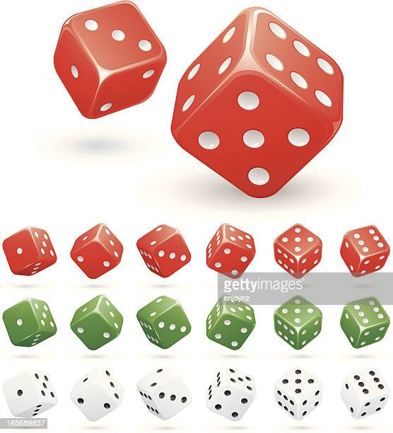 says - dice stock illustrations