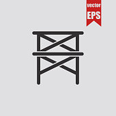 Scaffold icon.Vector illustration.