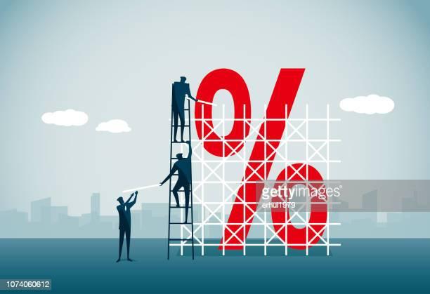 scaffolding - interest rate stock illustrations
