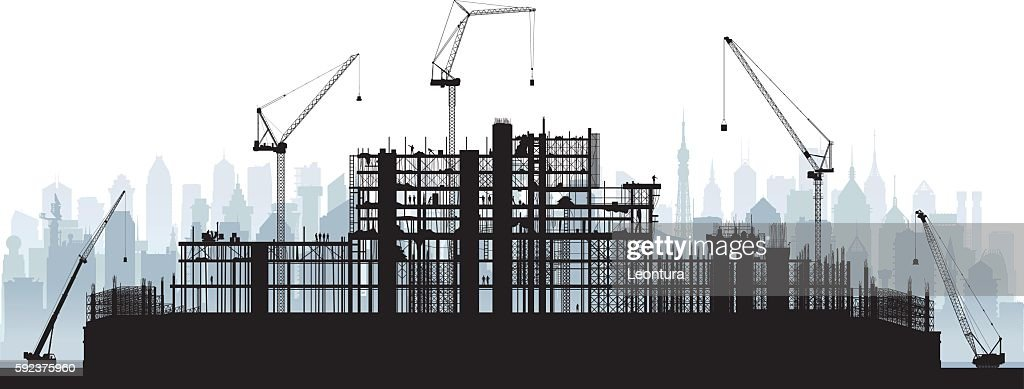 Scaffolding (Cranes and Buildings are Moveable and Complete)