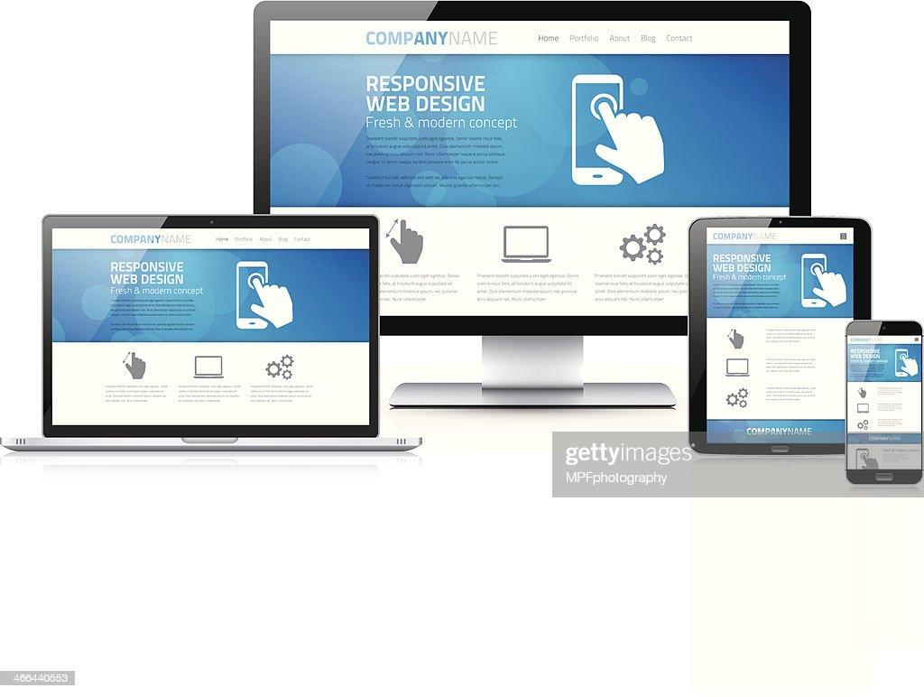 Scalable and flexible modern responsive web design concept vector
