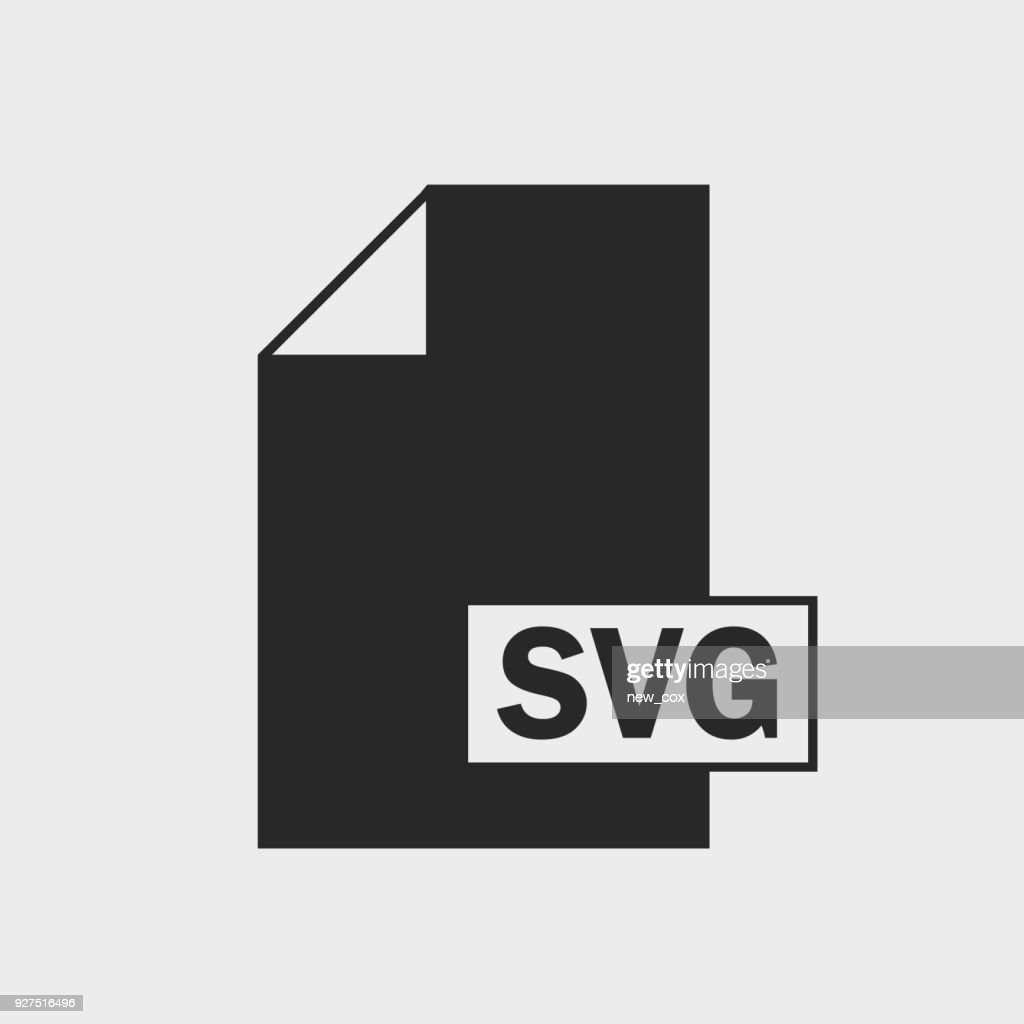 Scalable Vector Graphics (SVG) File format Icon on gray background
