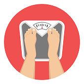 scale balance weight flat design icon