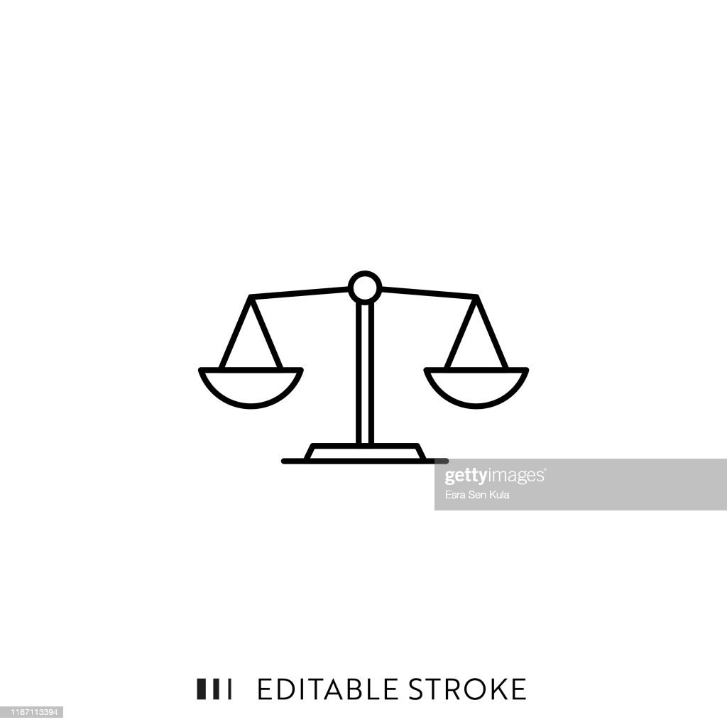 Scale Icon with Editable Stroke and Pixel Perfect. : Stock Illustration