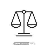 Scale Icon with Editable Stroke and Pixel Perfect
